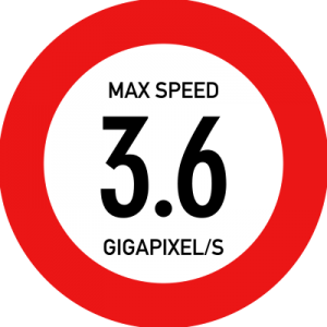 Max speed - 3.6 gigapixels/s